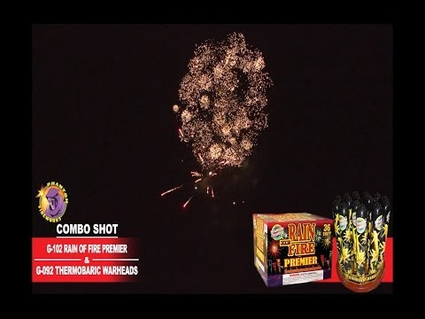 G-102 Rain Of Fire Premiere and G-092 Thermobaric Warheads - Phantom Fireworks