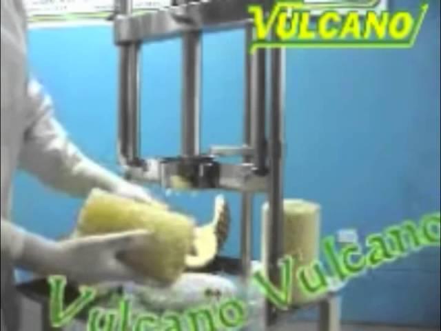 Peladora / Descorazonadora - Rodajadora de piña - Vulcano Tecnología Aplicada EIRL.