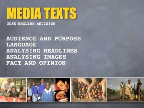Media Texts - Audience & Purpose