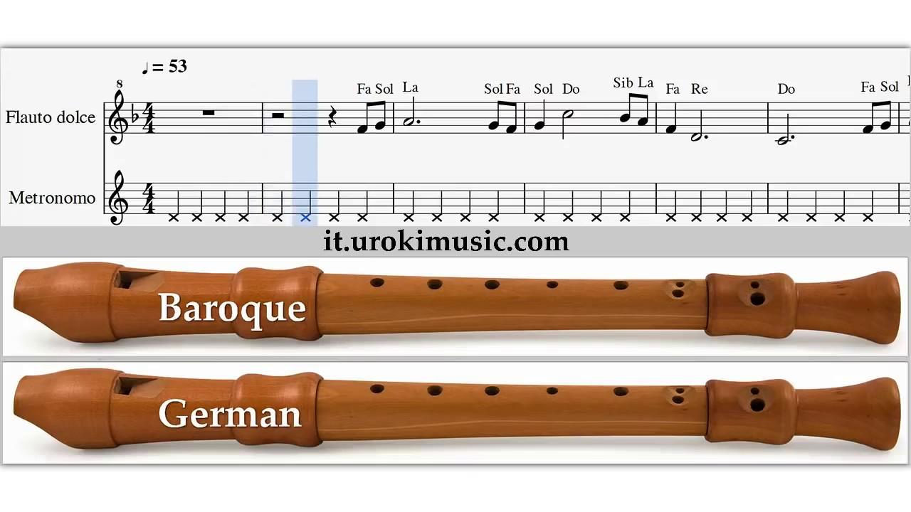 Favoloso Lezioni di Flauto Dolce - My Heart Will Go On Titanic Spartiti  MG75