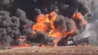 Сирия  ВКС России уничтожила конвой бензовозов ИГ