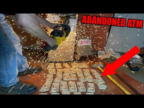 Breaking Into 4 Abandoned ATM Machines And This Is How Much Money Was Found Inside...