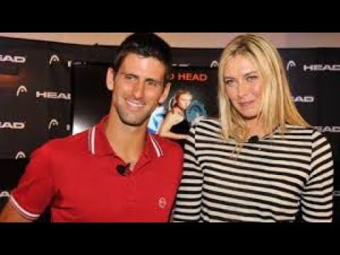 Novak Djokovic leads applause Maria Sharapova in HQ