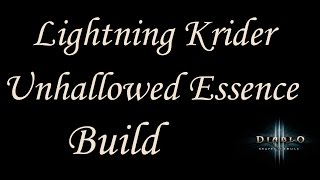 Lightning Kridershot Unhallowed Build - GR 55-65+ Demon Hunter Build 2.2 - Diablo 3 Reaper of Souls