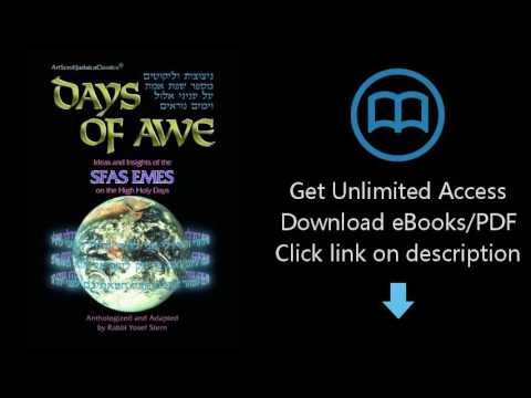 Download Days of Awe: Ideas and Insights of the Sfas Emes on the High Holy Days (Artscroll Judai PDF