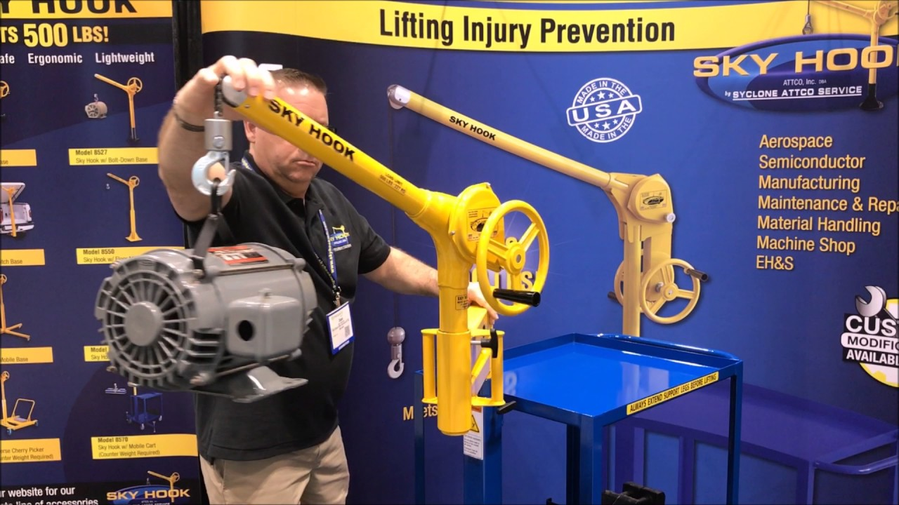 Articulated Arm Lifting Devices : Sky hook lifting device articulating arm in action youtube