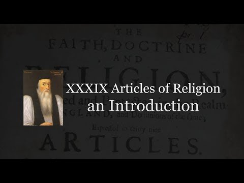 39 Articles of Religion: an introduction