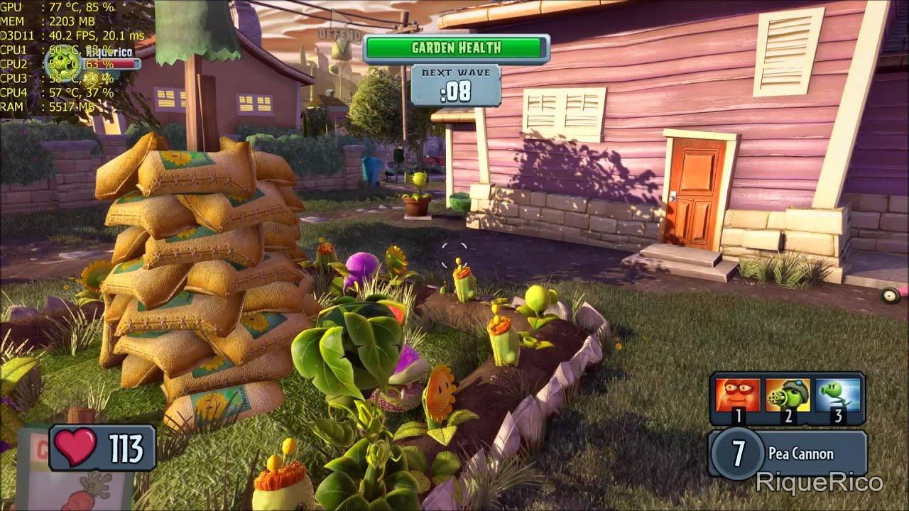 Plants vs Zombies: Garden Warfare - PC Gameplay - GTX 970 - i5 4690 ...