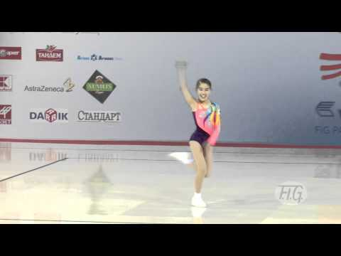 Yuka FURUKYO JPN  Aerobic World Age Group 2012