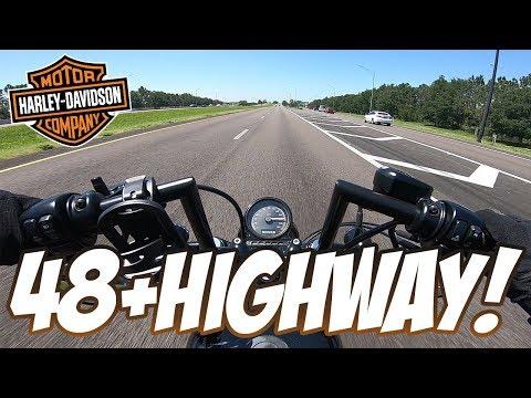 Harley Sportster 48 on the Highway / Interstate
