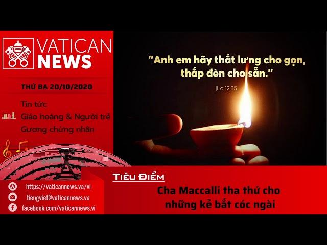 Radio: Vatican News Tiếng Việt thứ Ba 20.10.2020