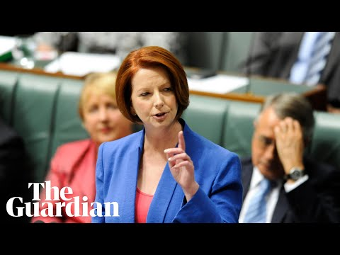 Julia Gillard misogyny speech voted most unforgettable Australian TV moment: watch in full