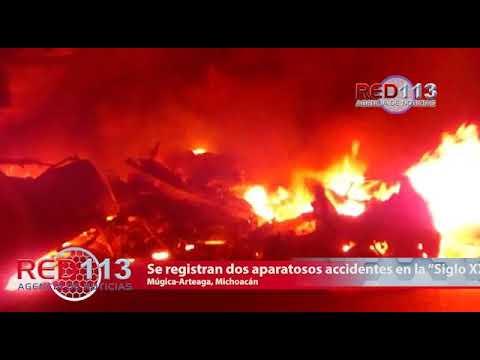 """VIDEO Se registran dos aparatosos accidentes viales en la """"Siglo XXI"""", hay un muerto"""