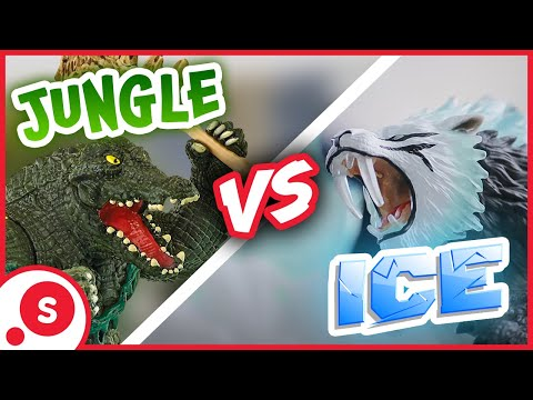 Schleich Eldrador® Creatures | Attack on Ice Fortress: Jungle vs. Ice