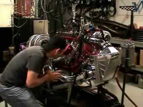 Dyno test of Rod Saboury's 2,200 HP small block Chevy engine