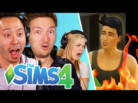Shane and Ryan Try To Kill The Try Guys In The Sims 4