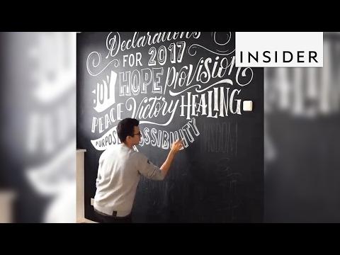 A Zurich artist's hand lettering transforms chalkboards