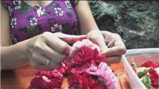 Making Hawaiian Leis : How to Make a Carnation Flower Lei