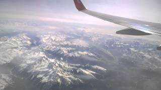 Альпы Alpes Alpen Под крылом самолёта горные вершины