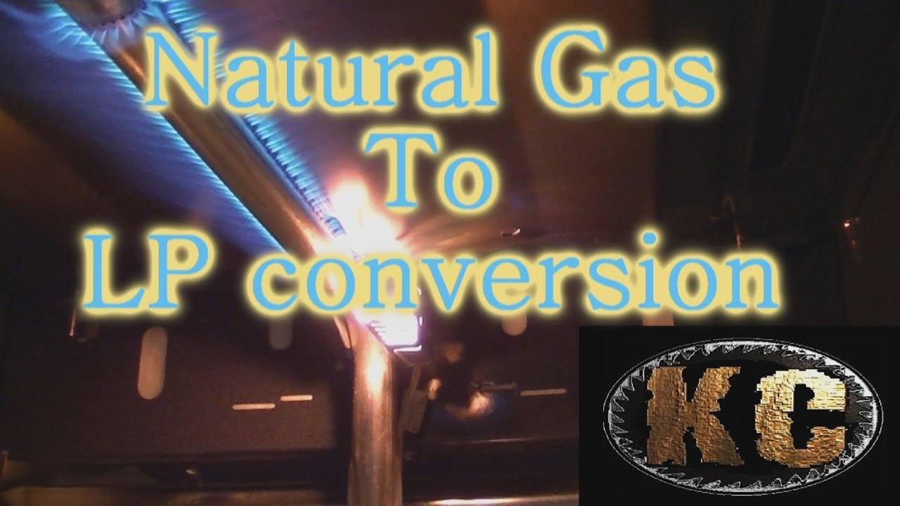Natural gas to LP conversion on Kitchen Oven YouTube