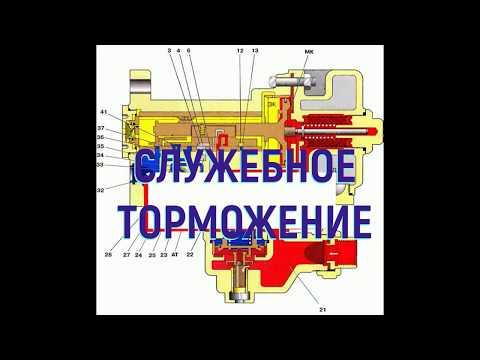 Воздухораспределитель усл №292 служебное торможение