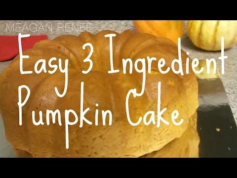 Easy 3 Ingredient Pumpkin Pie Cake