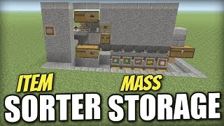 Minecraft PS4 - AUTOMATIC ITEM SORTER [ JAM-PROOF ] Tutorial - PE