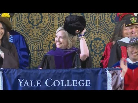 Hillary Clinton makes Russia joke in Yale speech