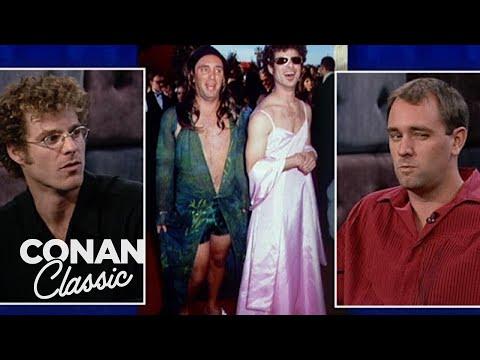 Matt Stone & Trey Parker On Their 2000 Oscars Look   Late Night with Conan O'Brien  