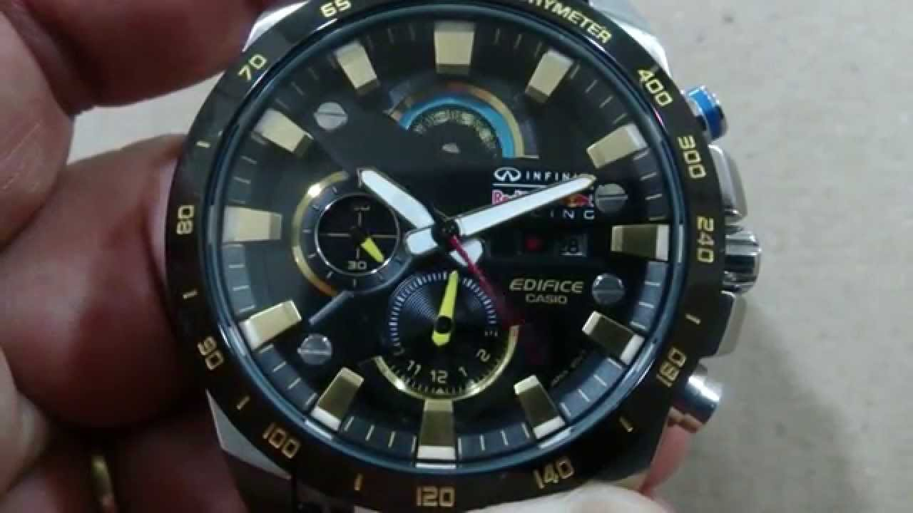 casio edifice efr 540 infinit red bull youtube. Black Bedroom Furniture Sets. Home Design Ideas
