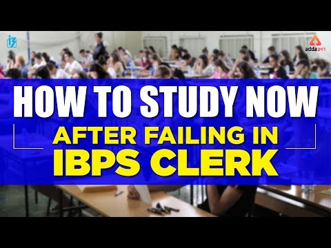 HOW TO STUDY NOW AFTER FAILING IN IBPS CLERK   VISHAL SIR
