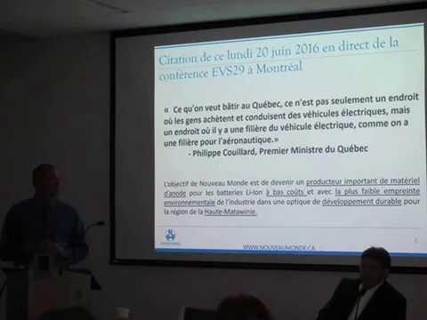 Mario Dumont parle du projet de graphite Matawinie