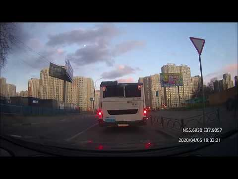 Driving In Moscow Agglomeration: Балашиха - Люберцы - Текстильщики 05/04/2020 (timelapse 4x)
