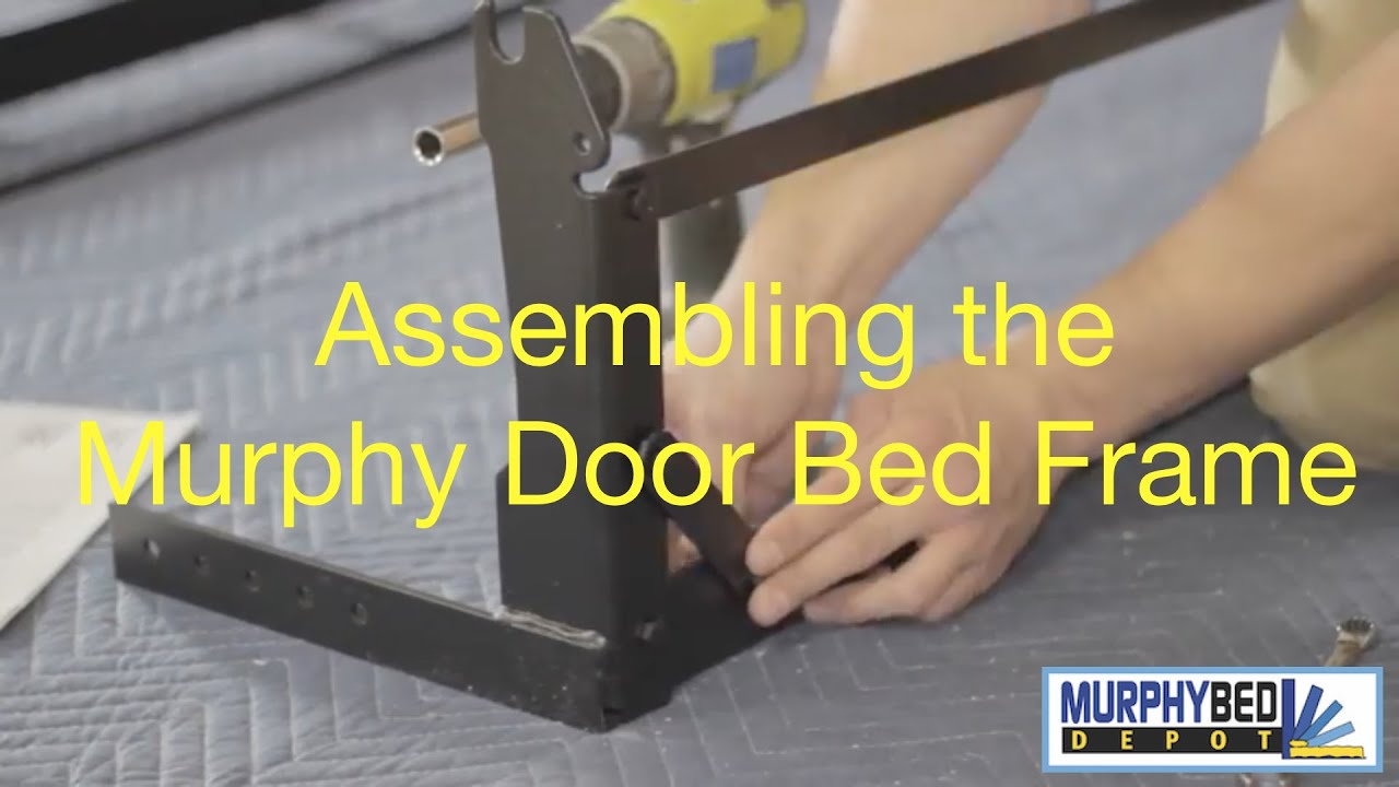 how to assemble the door bed frame from murphy bed depot - youtube