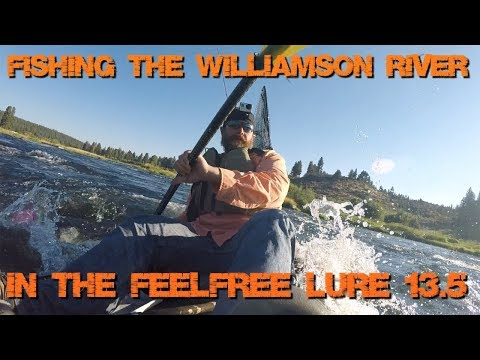 Kayak Fishing the Williamson River | Feelfree Lure 13.5 in Action | Redband Trout Galore