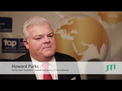 Top Employer 2016: Howard Parks, Senior Vice President Human Resources, JTI