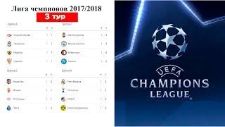 Футбол Лига Чемпионов 20172018 Результаты 3 тура в группах E F G H Таблица Расписание