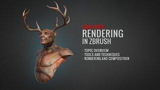 Rendering in ZBrush (Vollständige Tutorial auf BadKing.com.au)