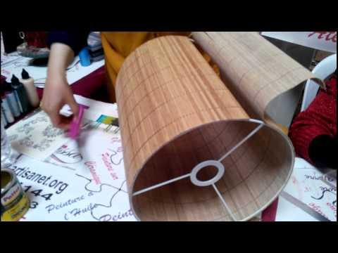 Diy comment fabriquer un abat jour en tissu doovi Fabrication abat jour