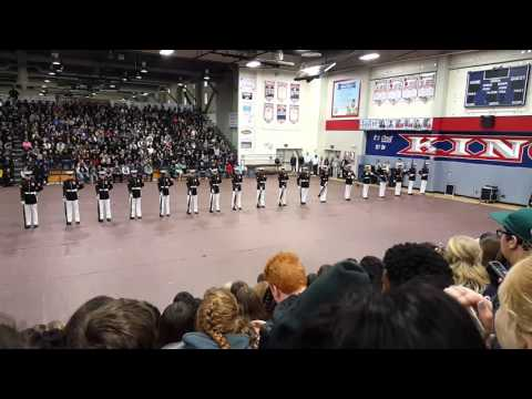 2016 United States Marine Corps Silent Drill Platoon @ King High School in Riverside