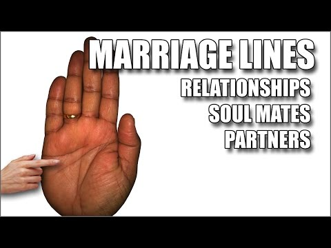 MARRIAGE LINES  Male Palm Reading Palmistry #118