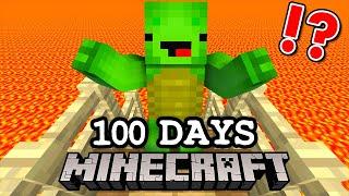 床がマグマになる世界で100日間本気サバイバルした結果!?【マインクラフト・まいくら】