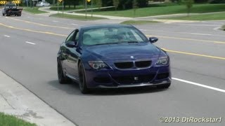 BMW M6 V10 Eisenmann Exhaust, Straight Pipes, Decatted. Heart Pounding!!!