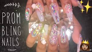 Prom Bling Nails