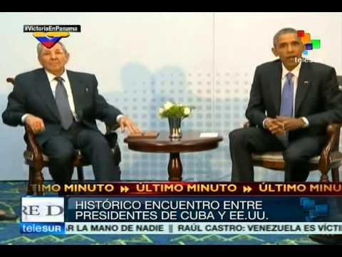 Barack Obama y Raúl Castro se reúnen en Cumbre de las Américas 2015