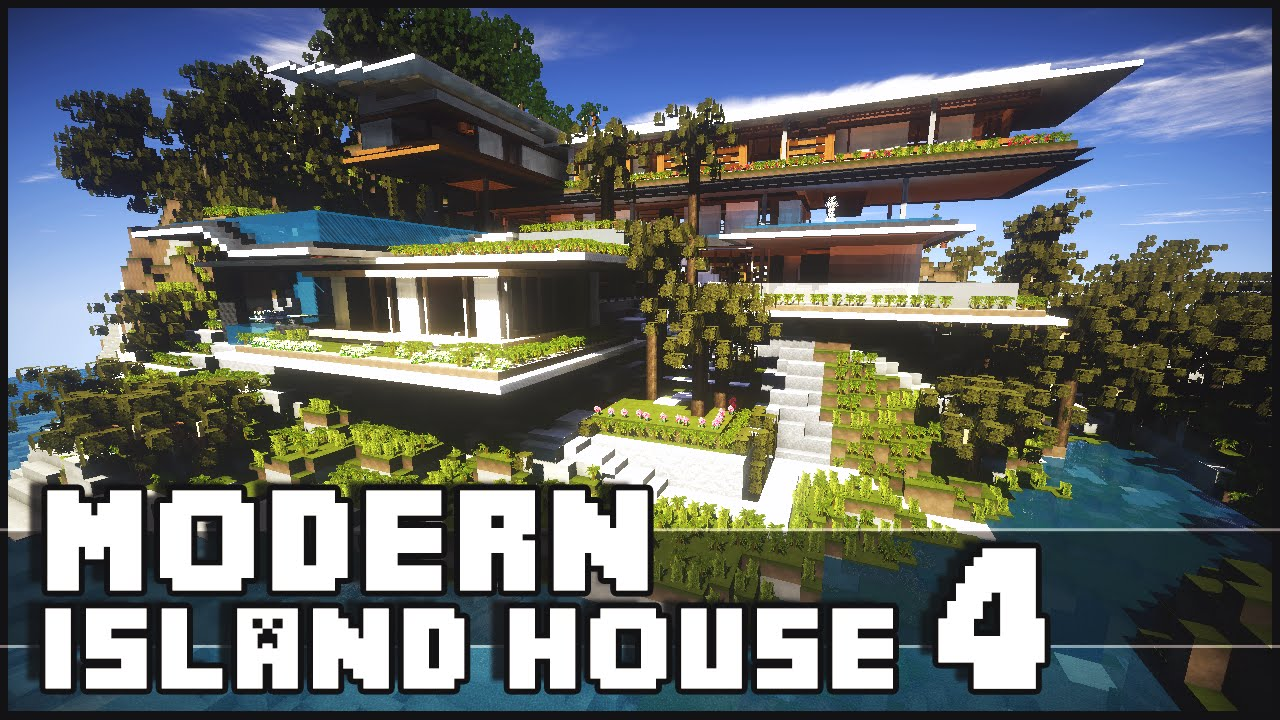 Minecraft modern island house 4 island house xalima for Modern house mc
