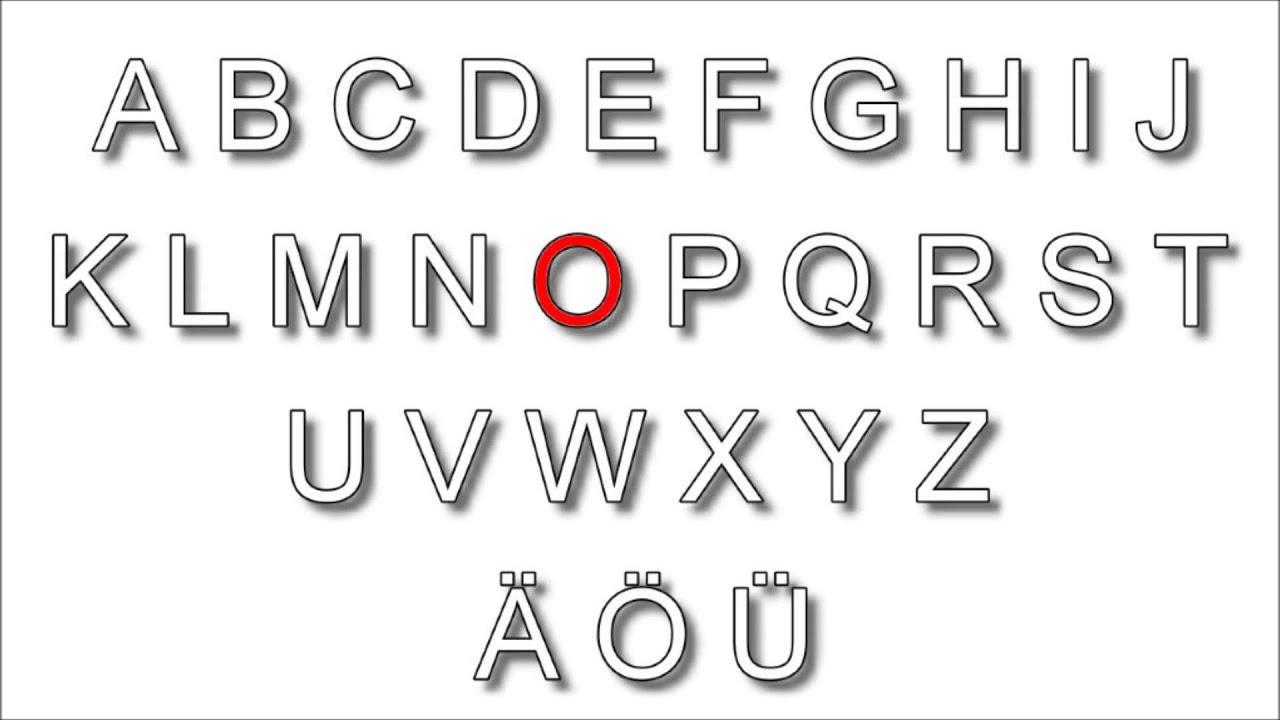 001 - German Alphabet / Pronunciation - YouTube