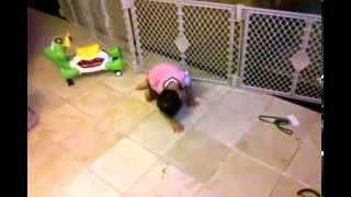 2 year old doing a back flip