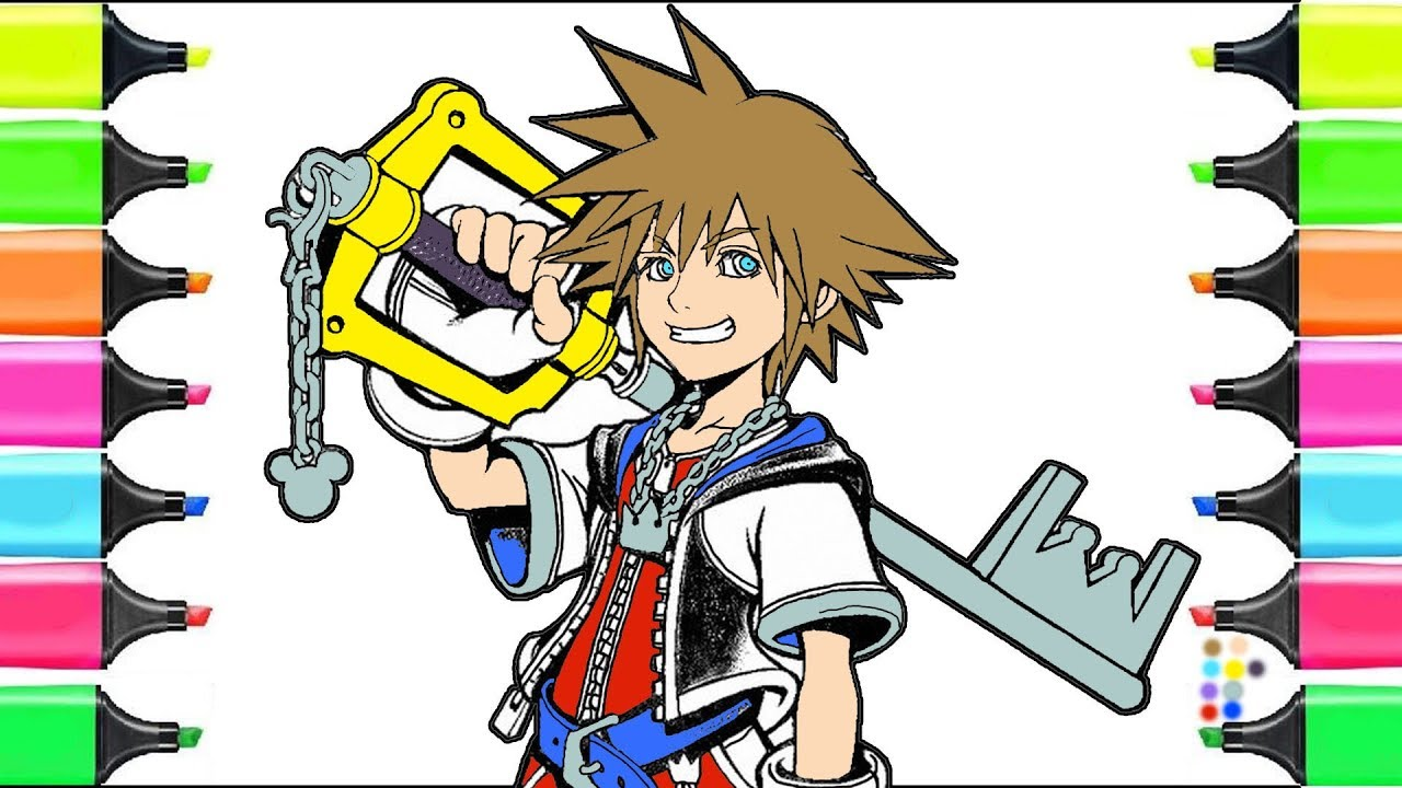Kingdom Hearts 3 Learn Colors And Teaching How To Draw Education
