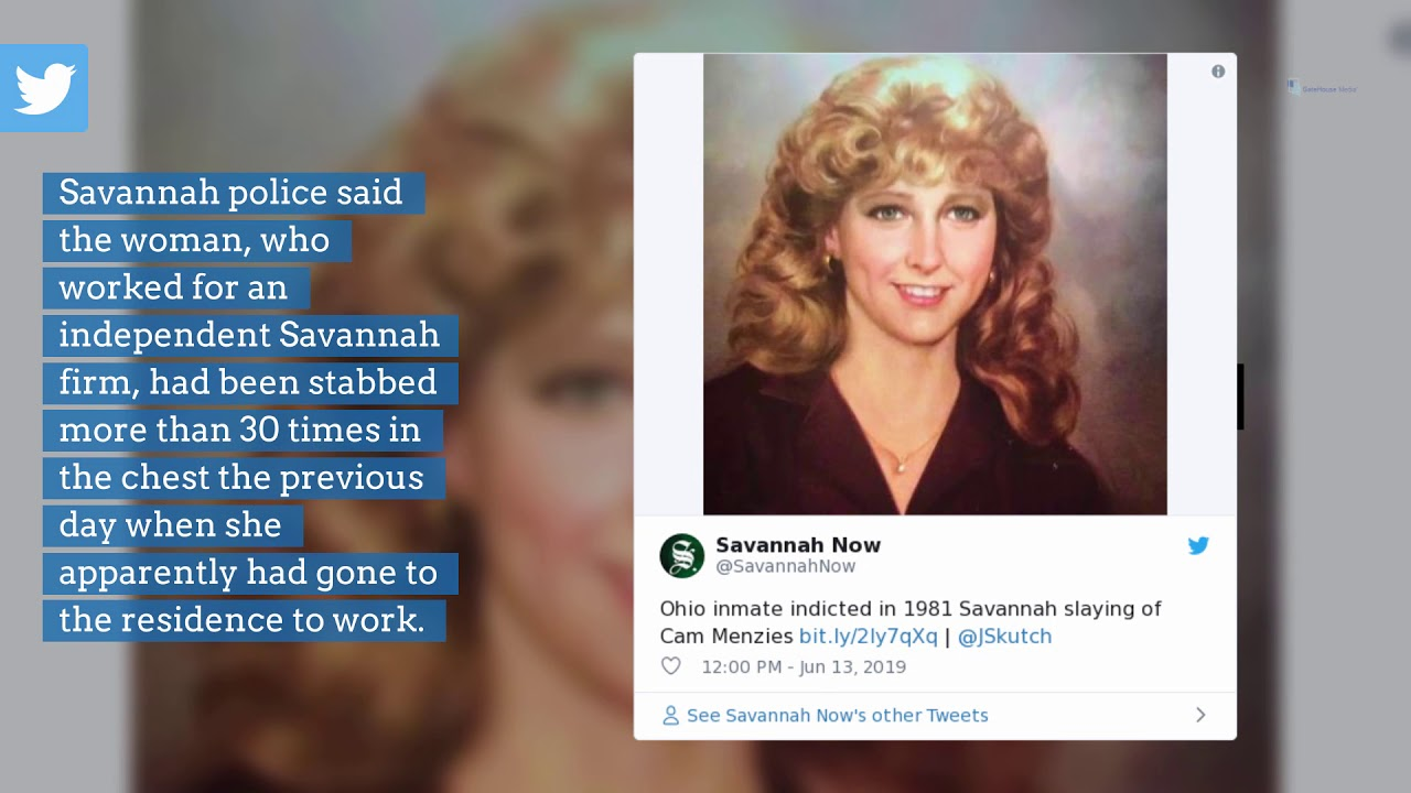 Ohio inmate indicted in 1981 Savannah slaying of Cam Menzies